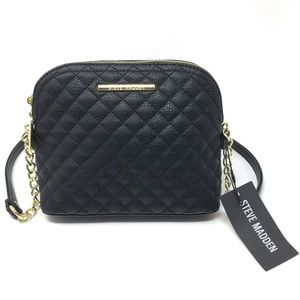 Steve Madden Black Quilted Dome Crossbody NWT $68